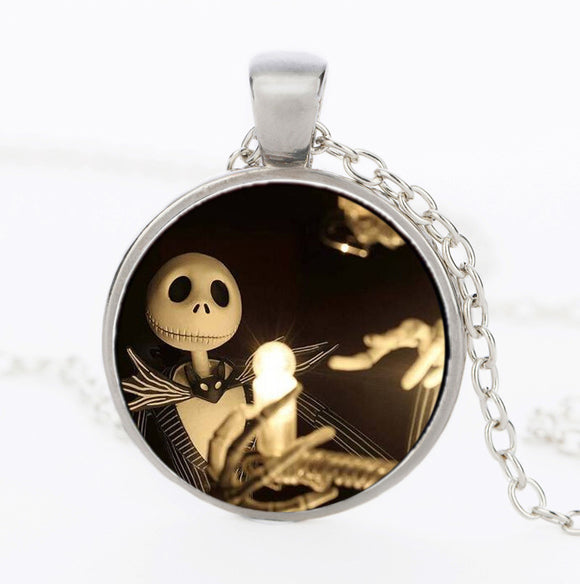 The Nightmare Before Christmas Jack Skellington Glass Dome Necklaces & Pendants Jewelry for Men or Women