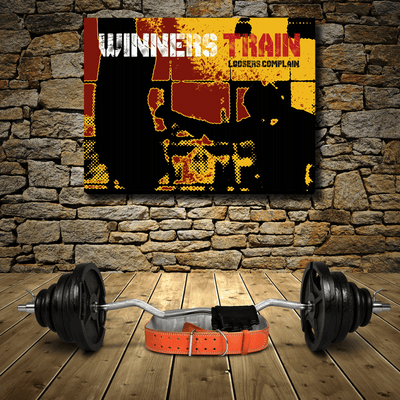 WINNERS TRAIN ! - Wood frame canvas ready to hang