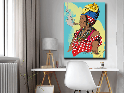 MAMA MAKEMBA - SO WHAT ? - Wood frame canvas ready to hang