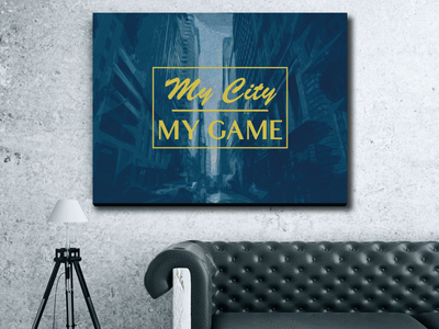 MY CITY : MY GAME - Wood frame canvas ready to hang