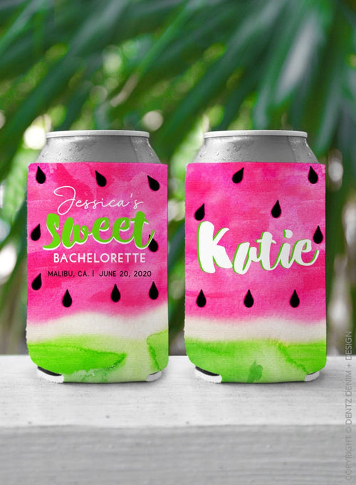 Watermelon - Custom Bachelorette Party Can Cooler