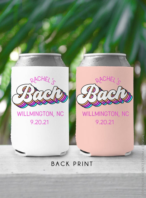 Retro Bride and Babe - Custom Bachelorette Party Can Cooler