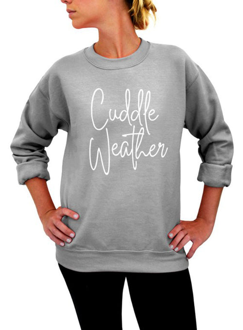Cuddle Weather Crew Sweatshirt - Unisex Crew Neck Crew Sweatshirt