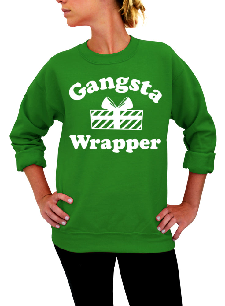 5e8ad2764c Gangsta Wrapper, Funny Christmas, Christmas Sweater, Holiday Shirt, Gift  For Her, Ugly Christmas, Unisex, Crew Neck, Sweatshirt