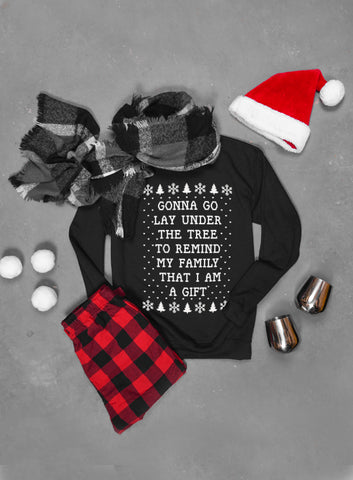 There's Some Hos In This House Santa Claus WAP Ugly Christmas Sweatshirt - Unisex Crew Neck Sweatshirt