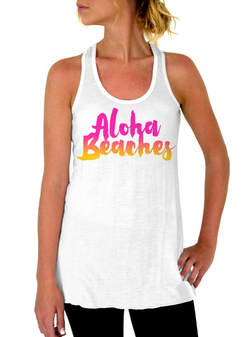 Bae Watch Beach Tank - Flowy Racerback Tank Top