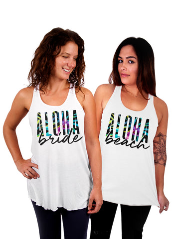 Aloha Bride Aloha Beaches - Custom Bachelorette Party Can Cooler