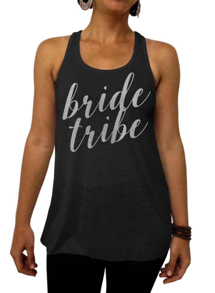 Brides Tribe, Rose and Pearl Collection, Bridal Party, Flowy Tank Top, Bridesmaids, Racerback, Bachelorette Party, Wedding Shower, Womens Clothing