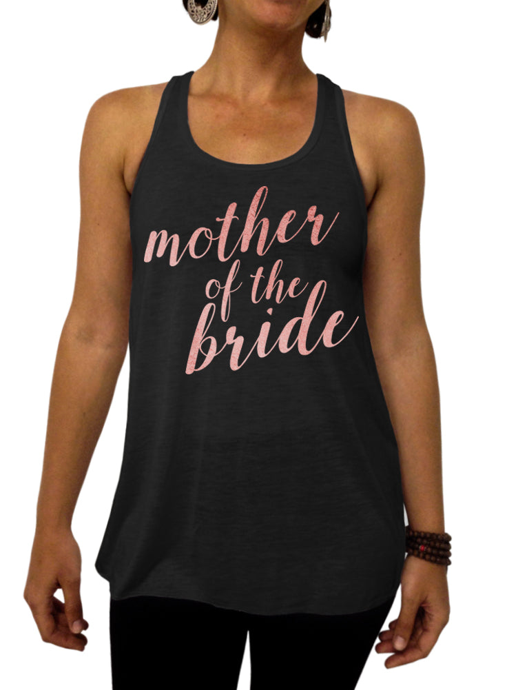 Mother of the Bride Rose and Pearl Collection Tank - Flowy Racerback Tank Top