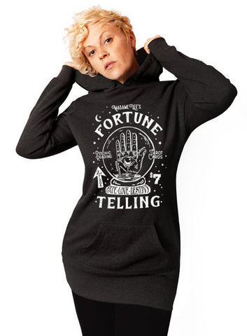 Resting Witch Face Hoodie - Tunic Sweatshirt Dress