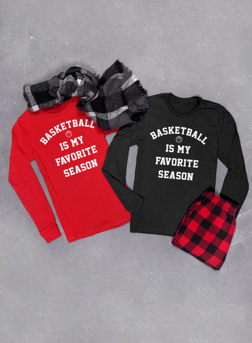 Basketball Is My Favorite Season Long Sleeve T-shirt - Unisex Long Sleeved Tee