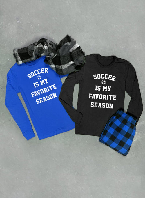 Soccer Is My Favorite Season Long Sleeve T-shirt - Unisex Long Sleeved Tee