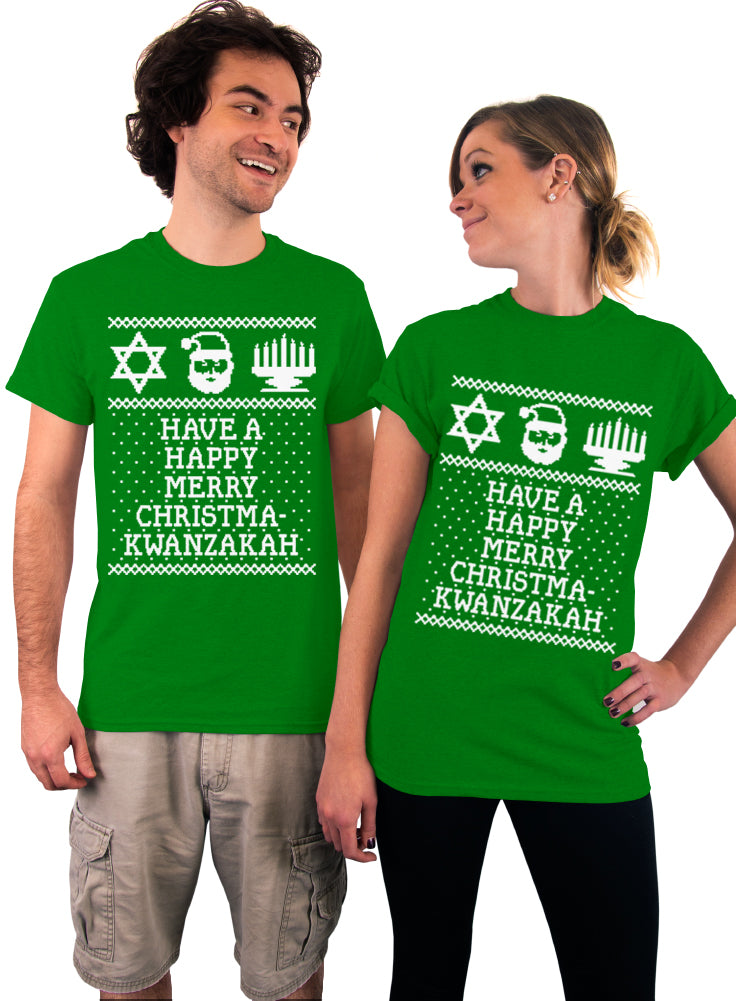 Happy Merry Christmakwanzakah T-Shirt - Unisex T-Shirt