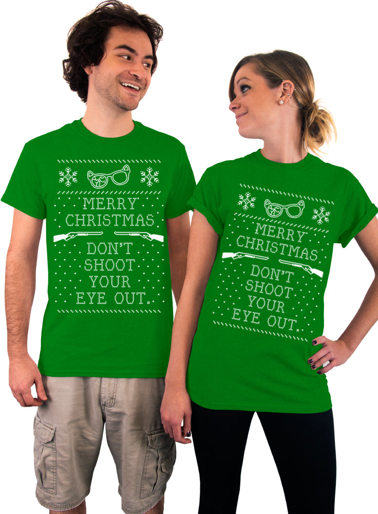Merry Christmas Don't Shoot Your Eye Out T-Shirt - Unisex T-Shirt