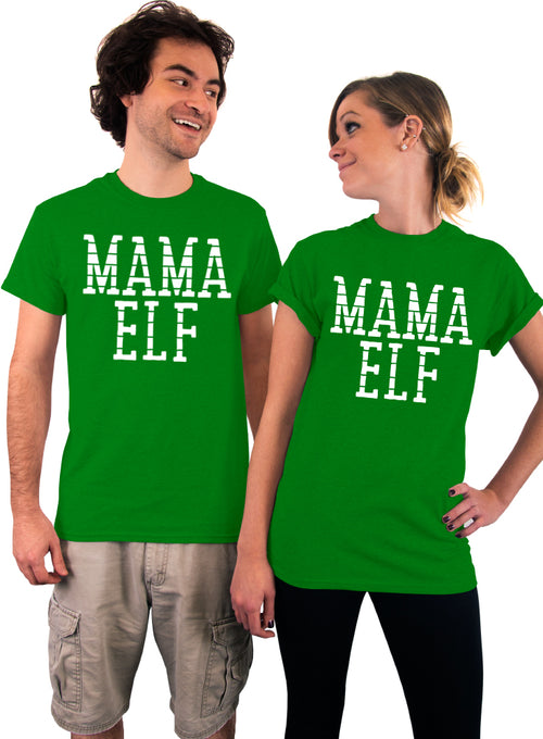 MAMA Elf, Unisex T-Shirt, Christmas Shirt, Gift for Mom, Mother's Day, Gift Idea, Mom to Be, Women's Christmas Shirt