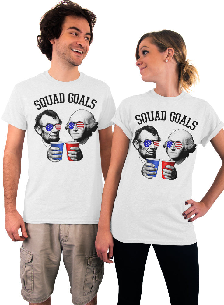 Lincoln and Washington Squad Goals 4th of July T-shirt - Unisex DRI-Blend T-shirt