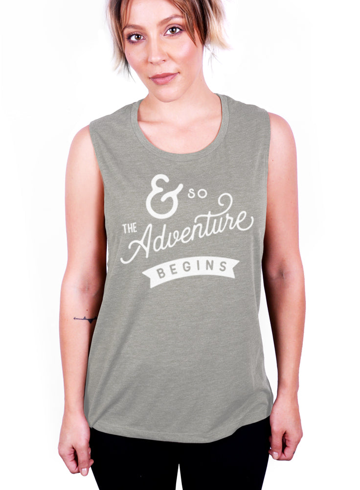 And So The Adventure Begins Tank - Muscle Tee