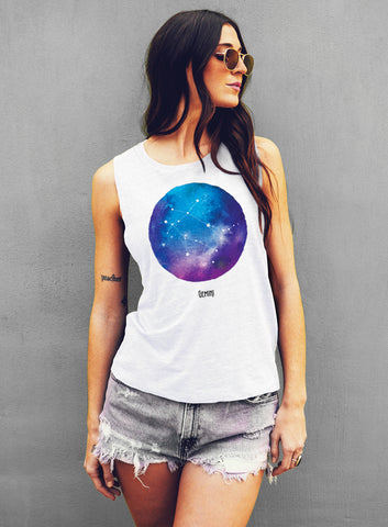 Scorpio Watercolor Zodiac Constellation Tank - Muscle Tee