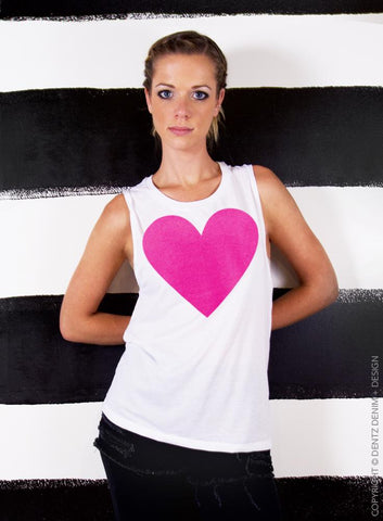 Retro Eightie's Stripes Tank - Muscle Tee