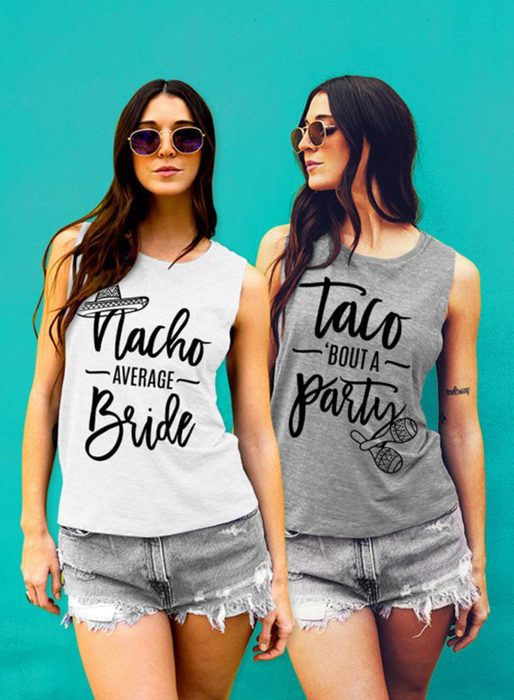 Nacho Average Bride, Taco Bout A Party Bachelorette Tanks - Muscle Tee