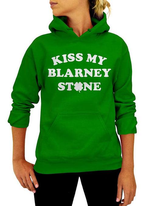 Kiss My Blarney Stone Hoodie - Unisex Hooded Sweatshirt