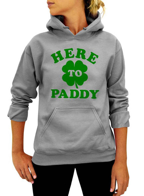 Here To Paddy St. Patricks Day Hoodie - Unisex Hooded Sweatshirt