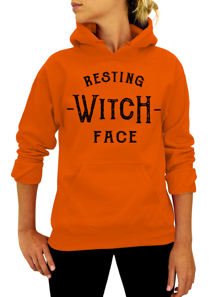 Resting Witch Face Hoodie - Unisex Hooded Sweatshirt