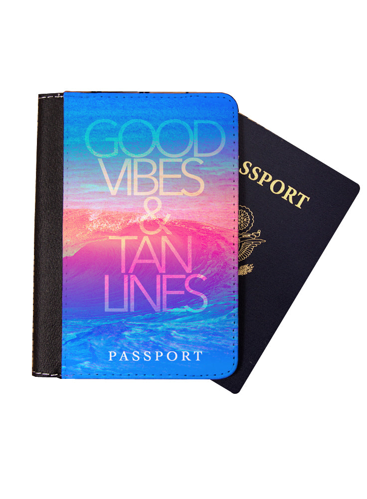 Good Vibes and Tan Lines Passport Cover - Passport Holder