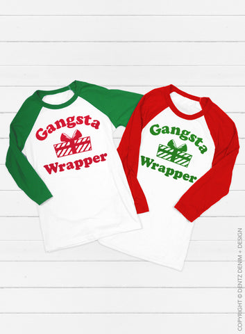 Don't Get Your Tinsel in a Tangle Christmas Baseball Tee - 3/4 Sleeve Unisex Raglan