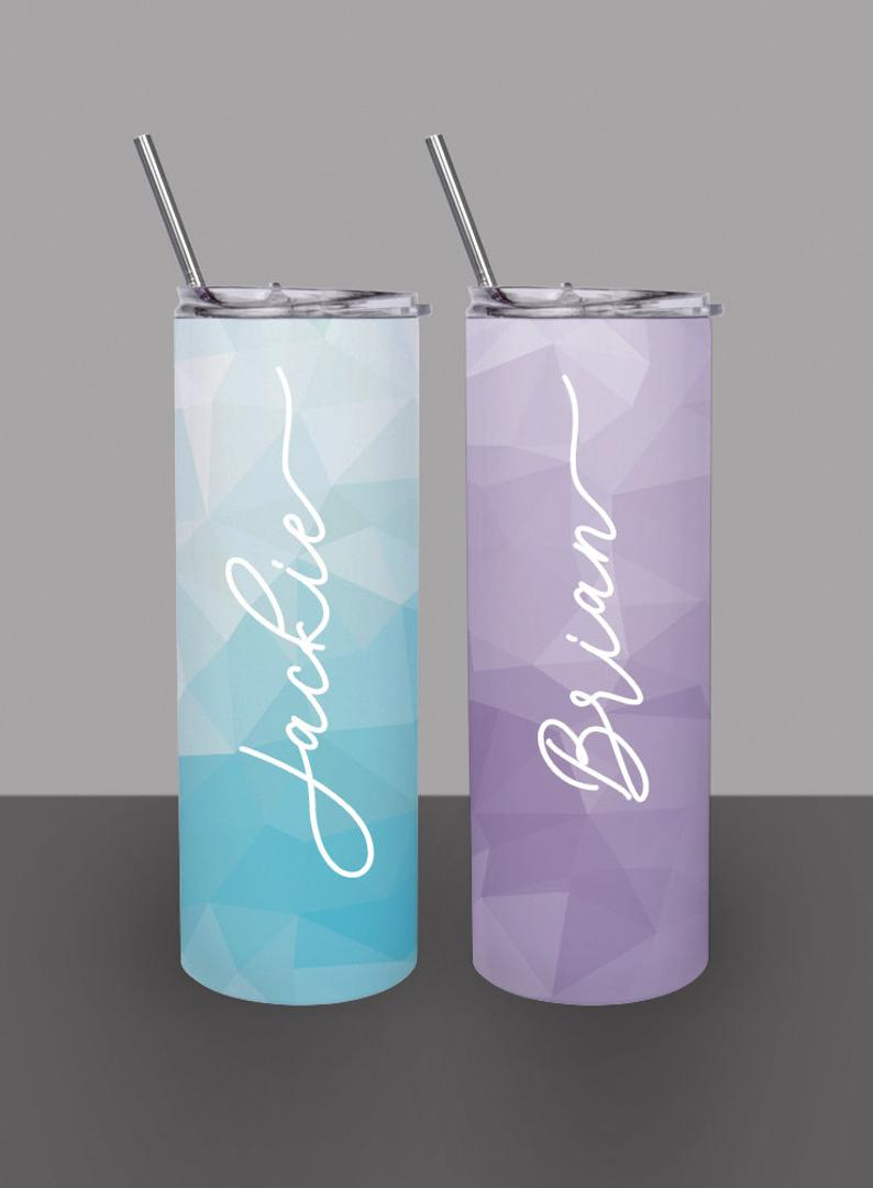 Geometric Pattern - Custom 20oz Skinny Tumbler