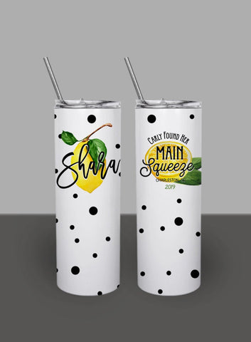 Tropic Like It's Hot Palm Leaf - Custom 20oz Skinny Tumbler