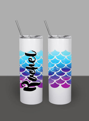 Rose Gold Blush and Lavender Mermaid Scales Last Splash - Custom Bachelorette Party Can Cooler