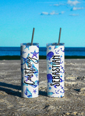 Mermaid Scales - Custom 20oz Skinny Tumbler