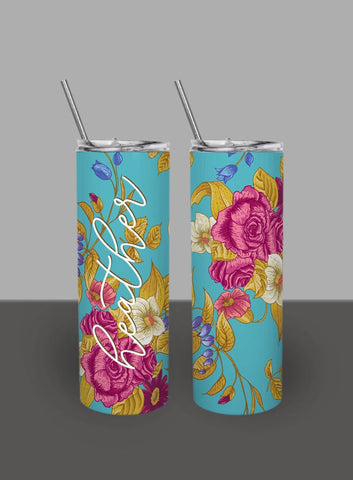 Purple Bohemian Tapestry - Custom 20oz Skinny Tumbler