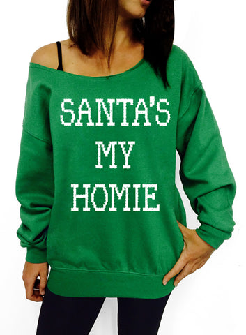 Nice, Naughty, I tried, Santa, Funny Christmas, Ugly Christmas, Sweatshirt, Christmas Sweater, Slouchy Sweatshirt