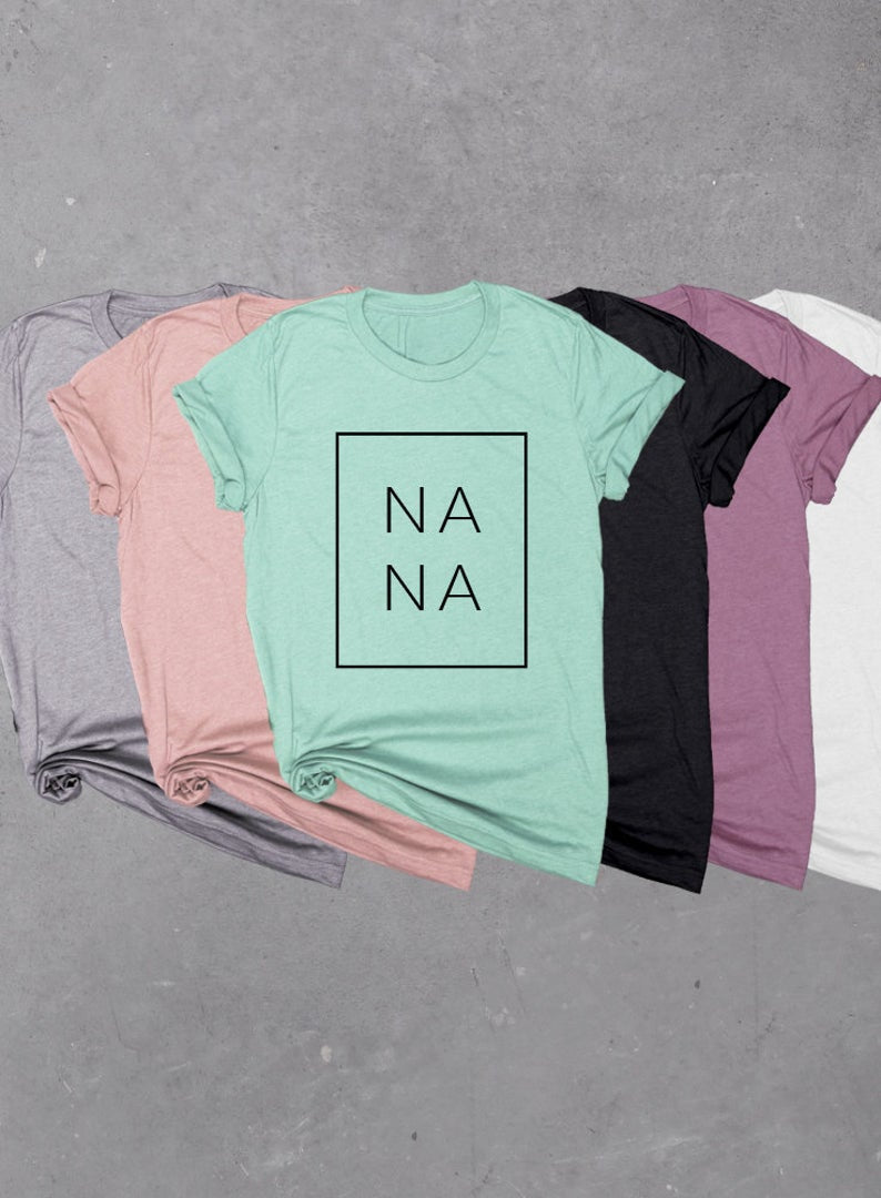 Nana, Box Style, Soft Unisex Tri-blend T-shirt