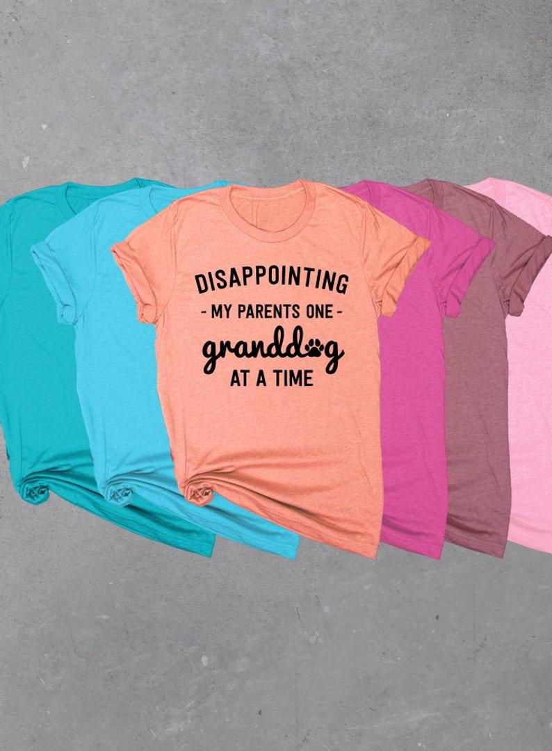 Disappointing My Parents One Granddog At A Time, Soft Unisex Tri-blend T-shirt