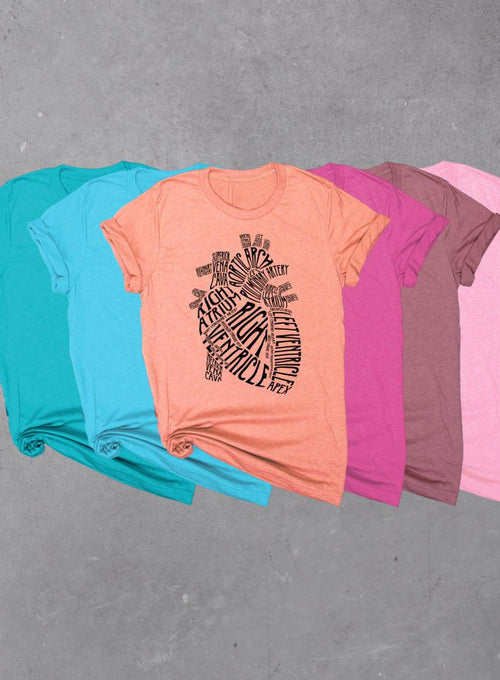 Heart Anatomy, Soft Unisex Tri-blend T-shirt