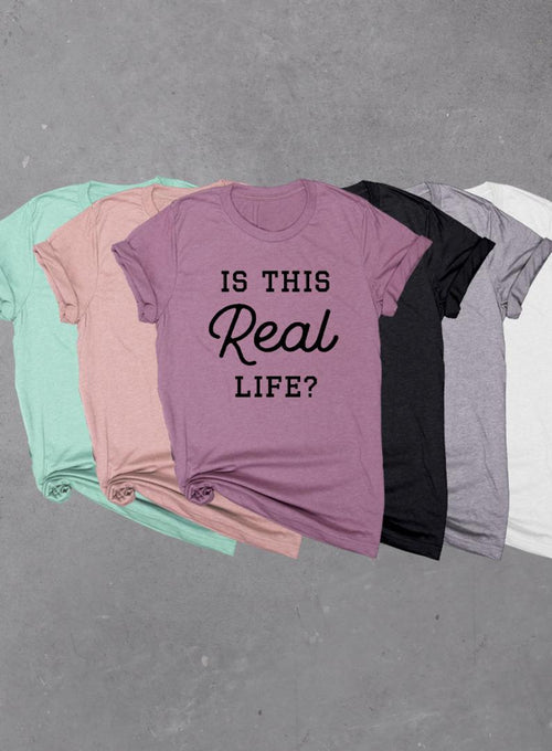 Is This Real Life? Soft Unisex Tri-blend Women or Mens T-shirt