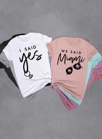 Vegas Bachelorette Party, I Said Yes, We Said Vegas - Muscle Tee