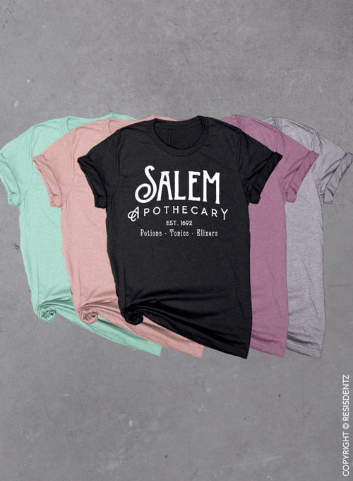 Salem Apothecary, Halloween Witch, Soft Unisex Tri-blend T-shirt