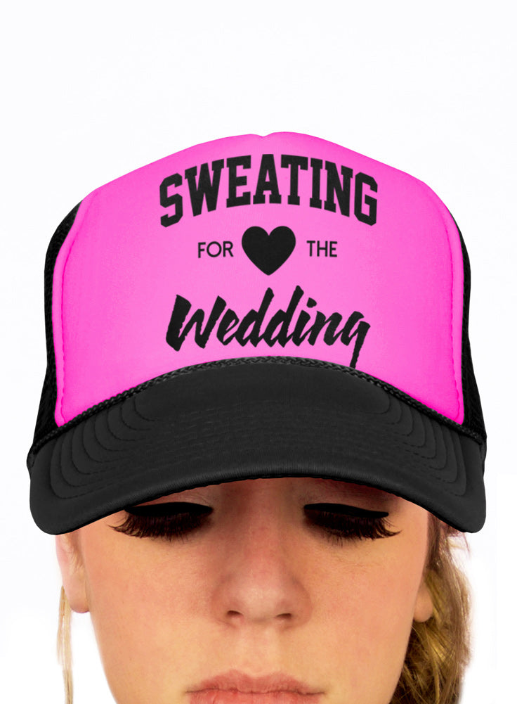Sweating, for the Wedding, Bride Hat, Snapback, Adjustable, Trucker Hat, One Size, Wedding Hats, Bridal Party, Workout, Gym, Getting Ready