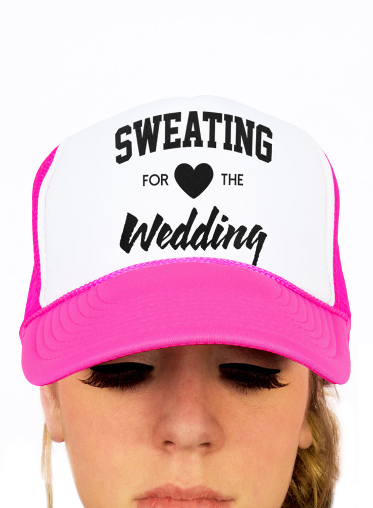 Sweating for the Wedding Fiance Trucker Hat - Snapback Cap