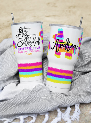 Rainbow Unicorn Birthday Custom Wine Tumbler
