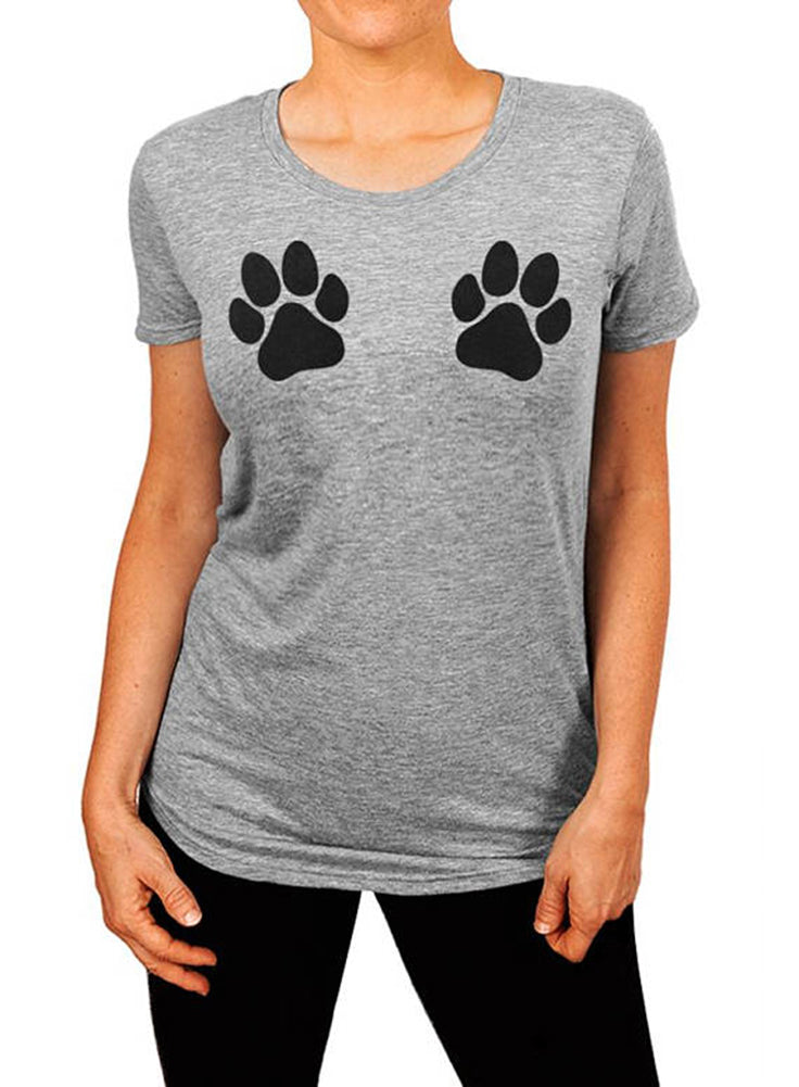 Dog Paw Shirt, Paw Print Shirt, Dog Lover Gift, Dog Mom, Gift for Her, Womens T-shirt, Dog Person, Dog Paw Print Shirt, The Boyfriend Tee