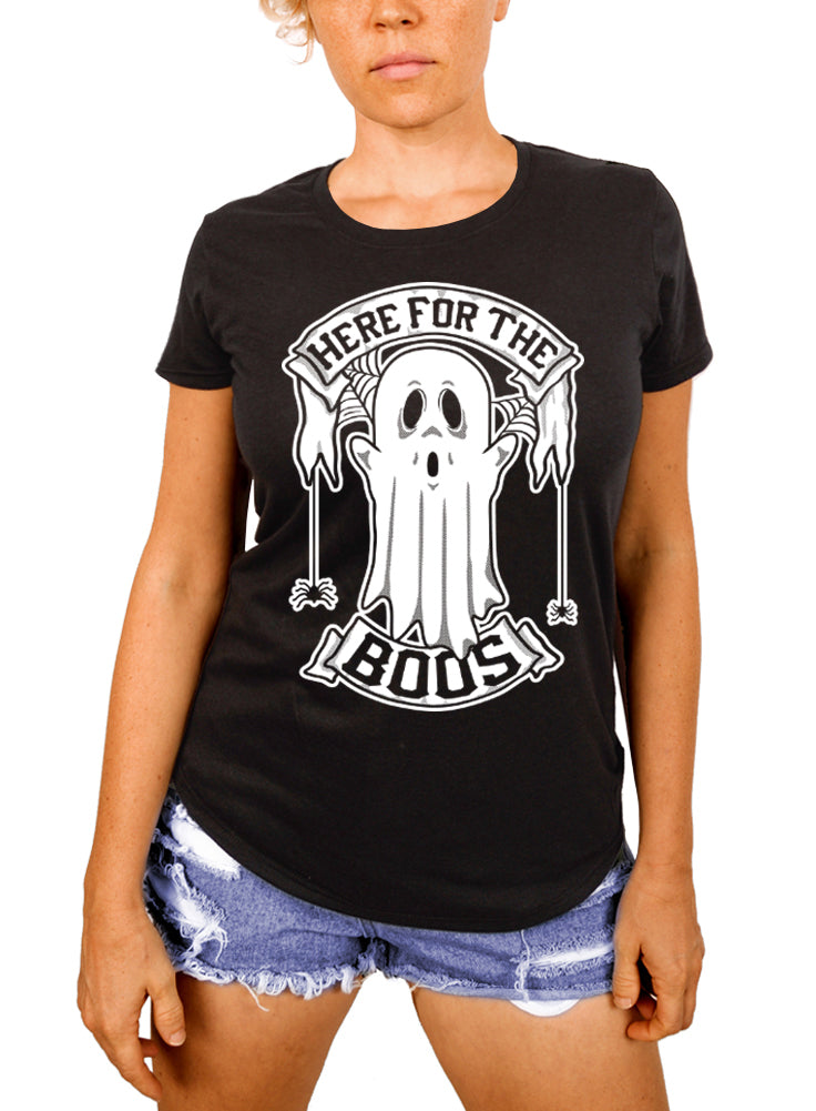 Halloween Shirt, Ghost Tee, Here For The Boos Tee Shirt, Women's Tshirt