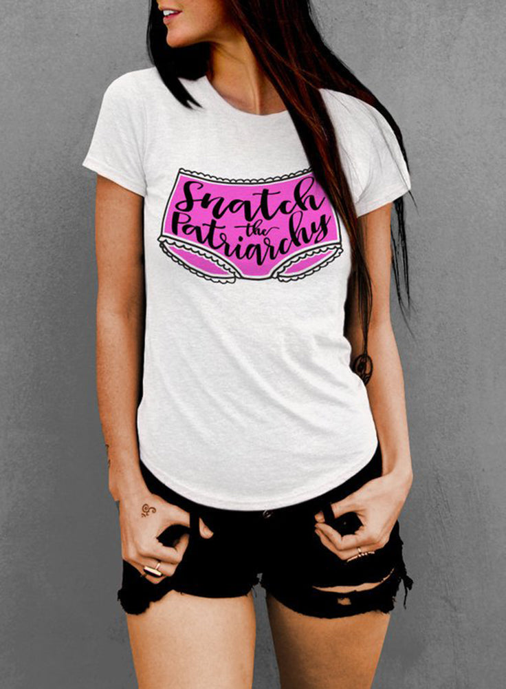 Snatch the Patriarchy Feminist Women's T-shirt - The Boyfriend Tee