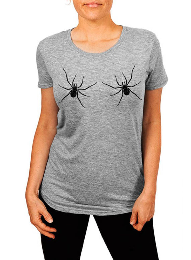 Spider T-shirt, Halloween Shirt, Spider Boobs, Cute Halloween Womens Tshirt
