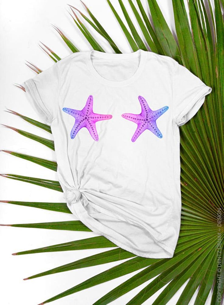 Starfish Mermaid Women's T-shirt - The Boyfriend Tee