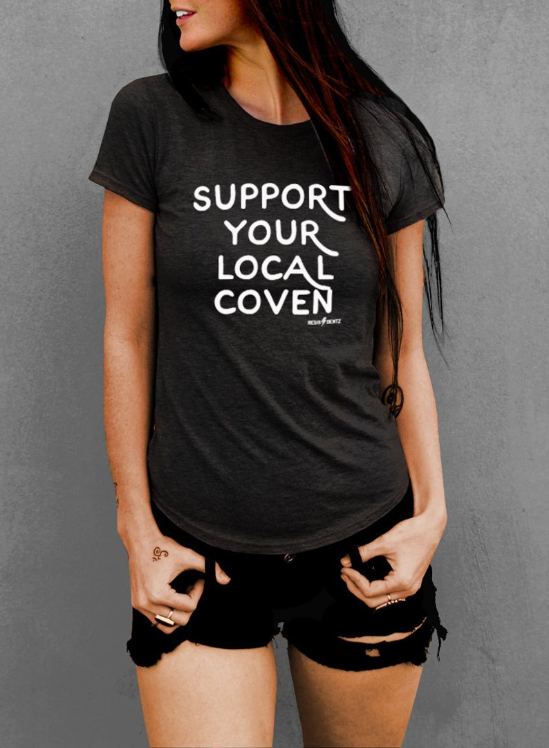 Support Your Local Coven Women's T-shirt - The Boyfriend Tee
